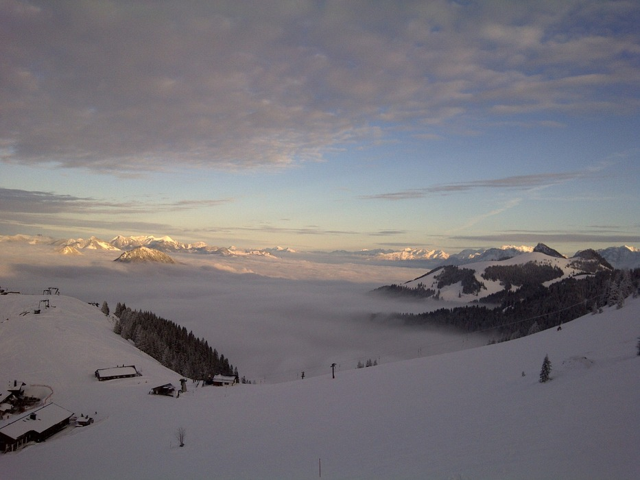 View from mountain station at Walleralm, Sudelfeld, January 13 - © Liftbetriebe Sudelfeld