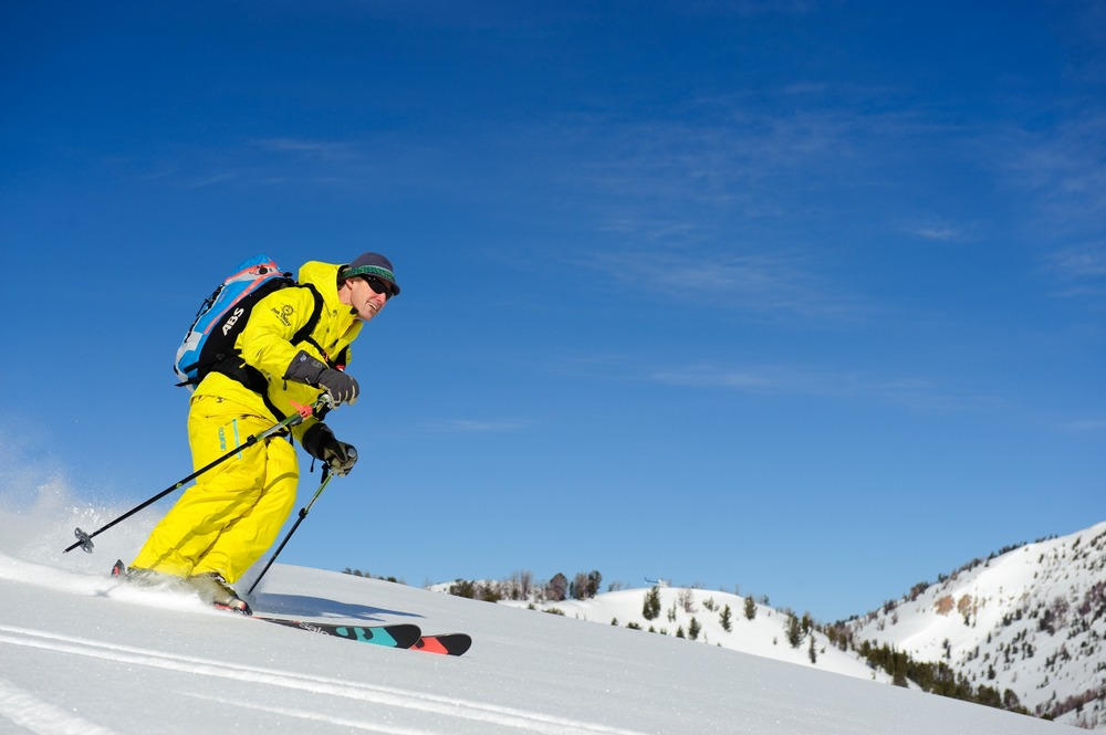 Guide Bozo Cardozo enjoys the terrain with Sun Valley Heli-Ski. - ©Tal Roberts