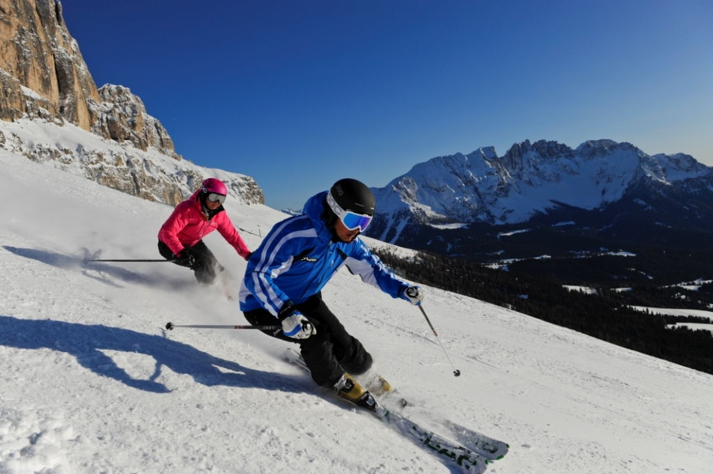 Skiifahrer in Carezza - © Laurin Moser