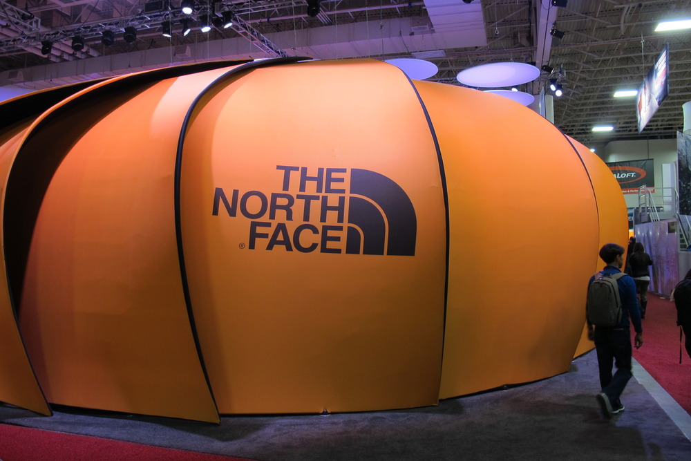 The North Face posted it up in what looks to be the world's largest tent at this year's Winter OR Show. - © Dan Kasper