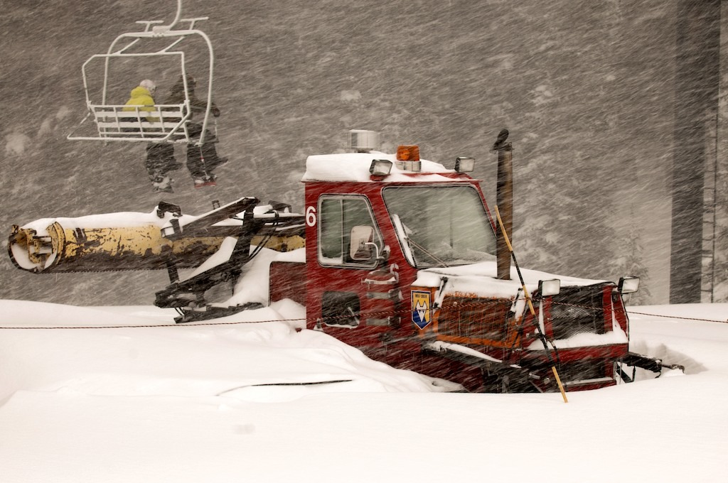 A Wolf Creek snowcat during the storm. - ©Josh Cooley