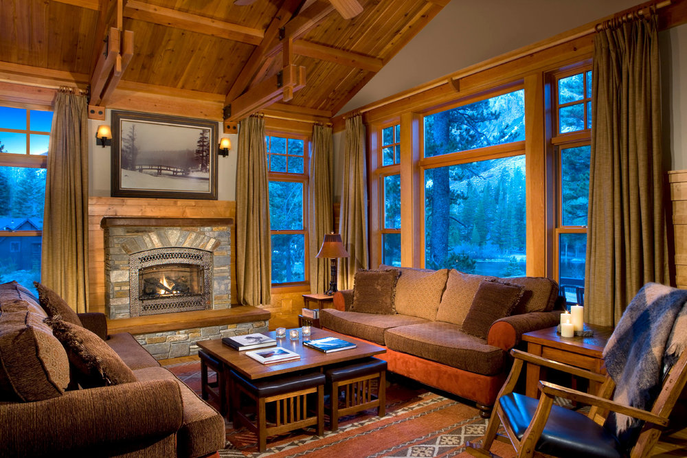 It's all luxury inside the Tamarack Cabins. - © Mammoth Mountain Ski Area