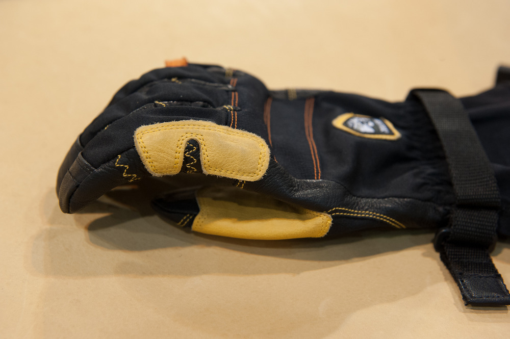 The new mountaineering line from Hestra Gloves, the Ergo Grip Outdry. - ©Ashleigh Miller Photography
