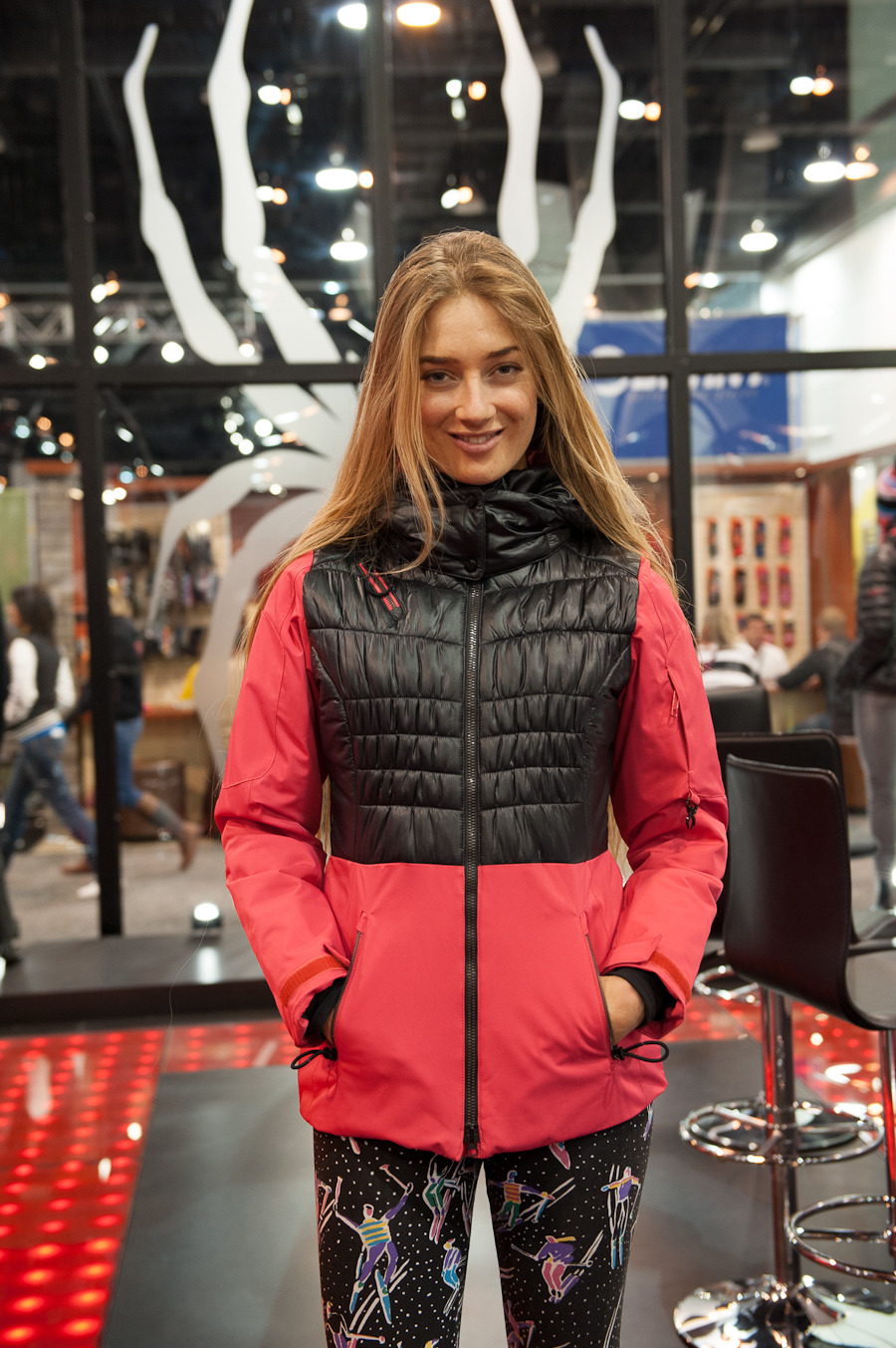 Pro skier Sierra Quitiquit modeling the Moxie jacket from Spyder. - ©Ashleigh Miller Photography