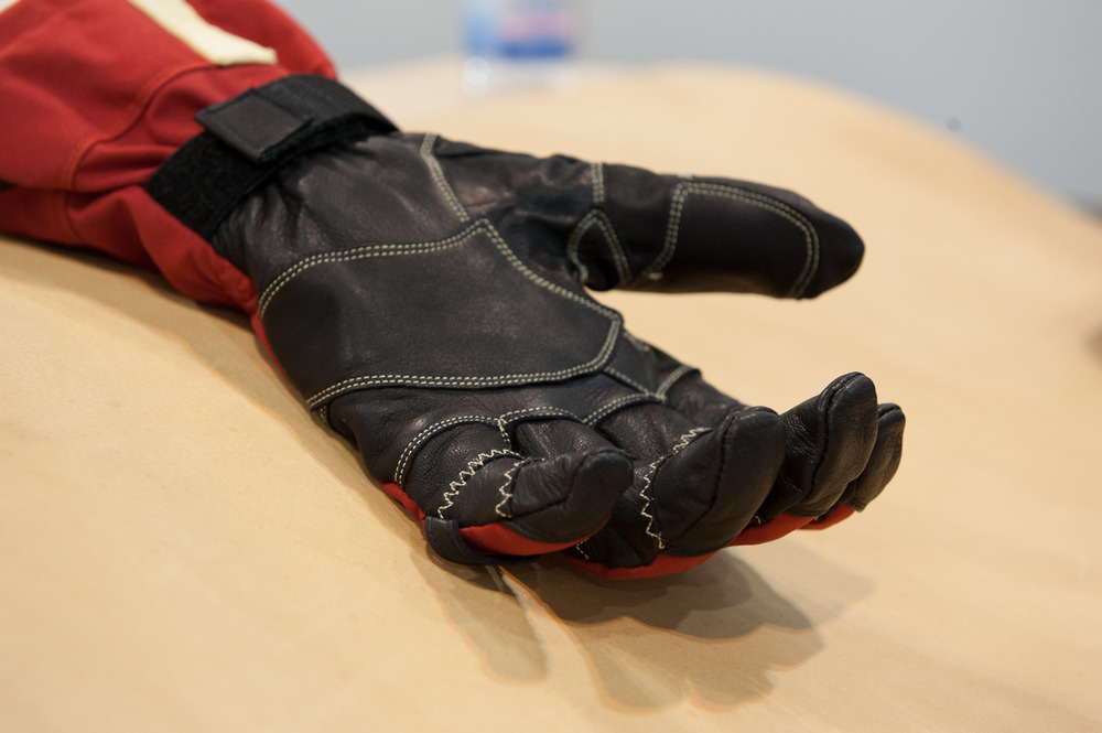 The Hestra Heli with Ergo Grip Construction is the glove worn by pro skiers like Seth Morrison. It has a relaxed, natural fit around the fingers with a goat leather palm and removable liner. - © Ashleigh Miller Photography