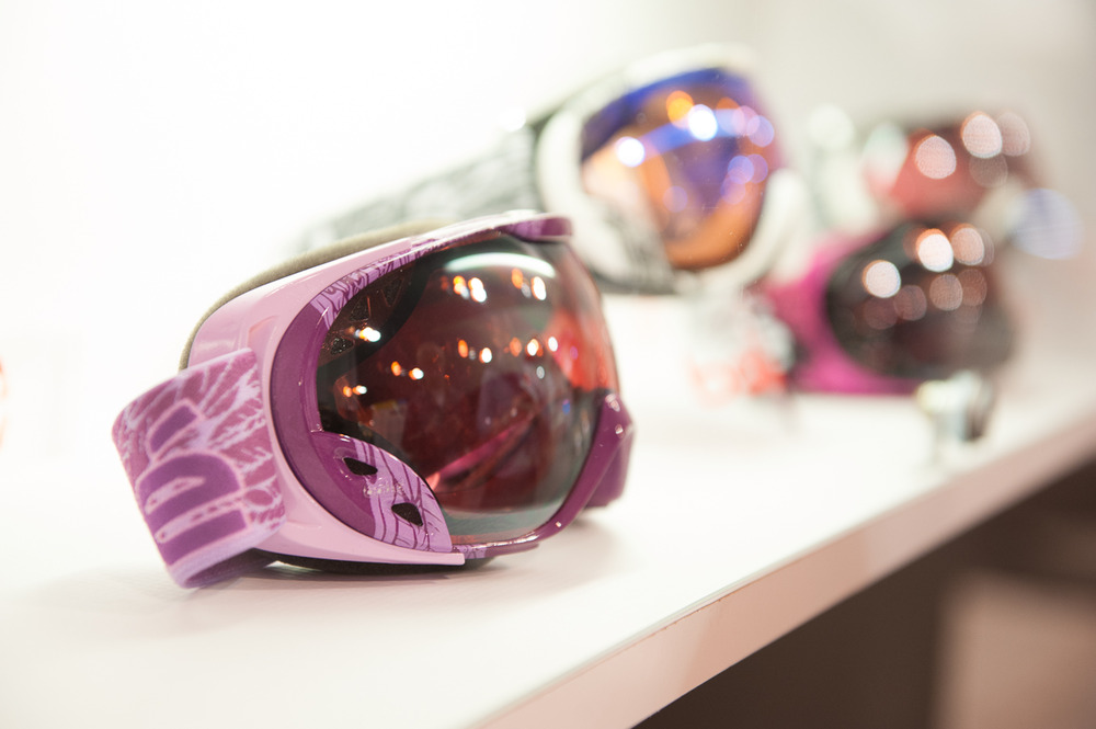 The Dutchess goggle from Bollé is a smaller, more feminine goggle. It features a venting system on both sides and the Fore Stay system automatically adjusts to fit your face.  - © Ashleigh Miller Photography