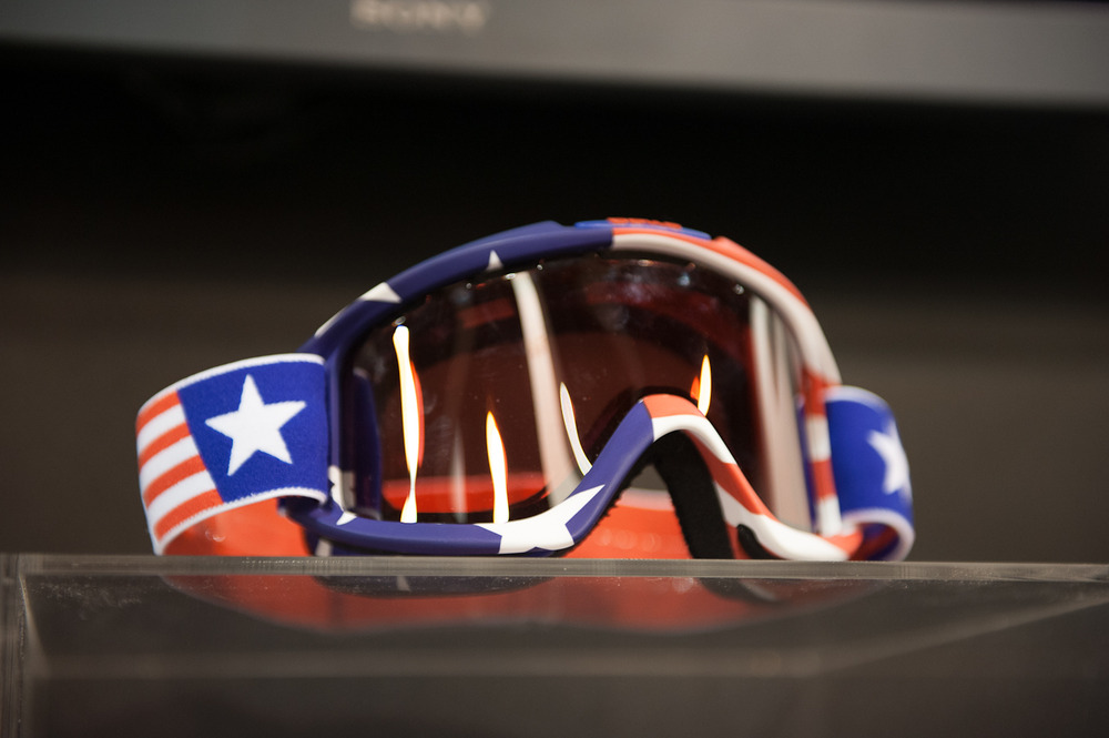 The Bollé Olympic Series is a group of five different goggles with designs representing different countries that Bollé athletes call home. Bollé's athletes will wear them at the Sochi Olympics in 2014. The above design is for the United States. - © Ashleigh Miller Photography