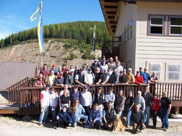 The 2008 NSP award winning ski patrol crew of Lookout Pass, Idaho.