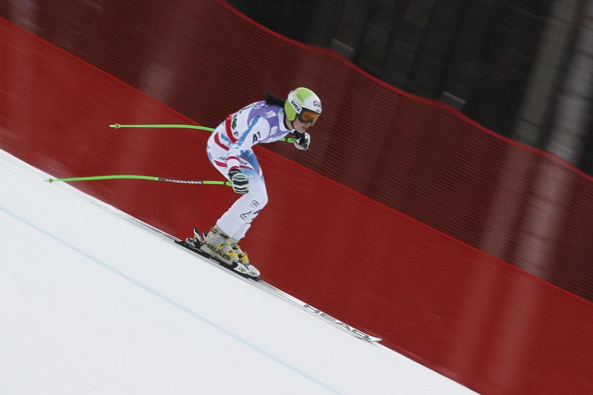 Anna Fenninger schied im Super-G aus - © Christophe PALLOT/Agence Zoom