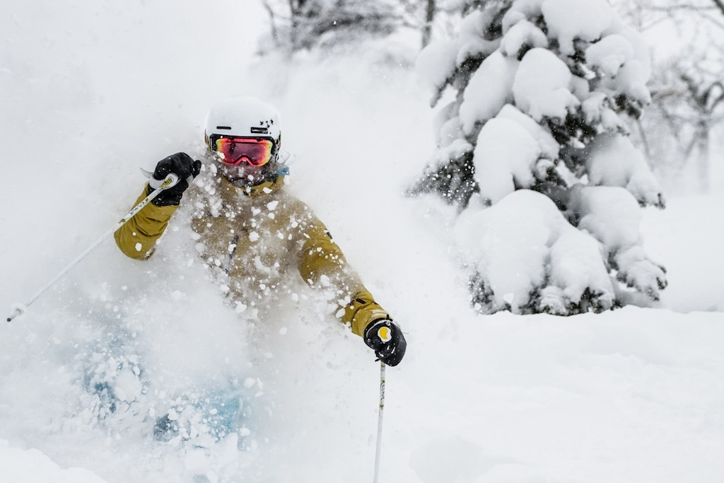 Former U.S. Ski Team member Caroline Lalive showed us the best powder stashes at Steamboat. - © Liam Doran