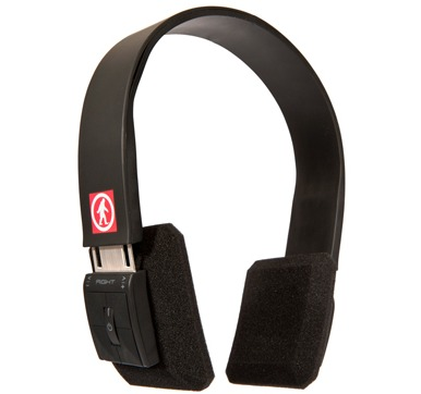 Tired of wires? Tune in to Outdoor Technology's DJ Slim wireless headphones for bass-boosting sound.