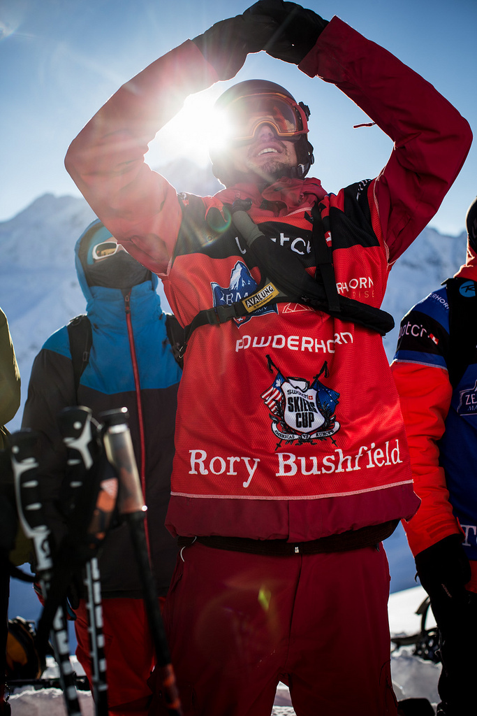 Rory Bushfield checking out the lines before competing in Zermatt. - © D.Daher/swatchskierscup.com