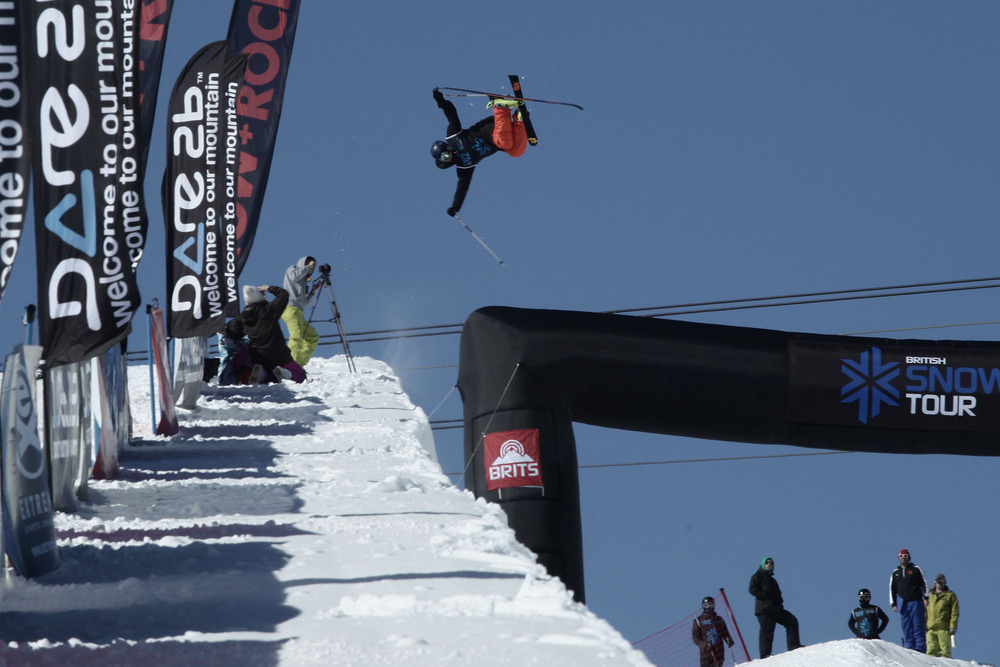 Pro freeskier James Machon competing at the BRITS - © Will Bremridge/BRITS