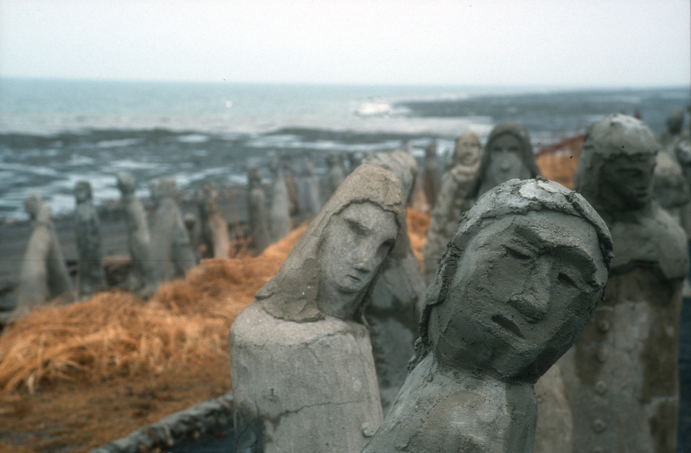 Sculptures along the St. Lawrence shore en route to the Mont Chic Chocs on the Gaspe Peninsula, Quebec. - © Brian Mohr/EmberPhoto
