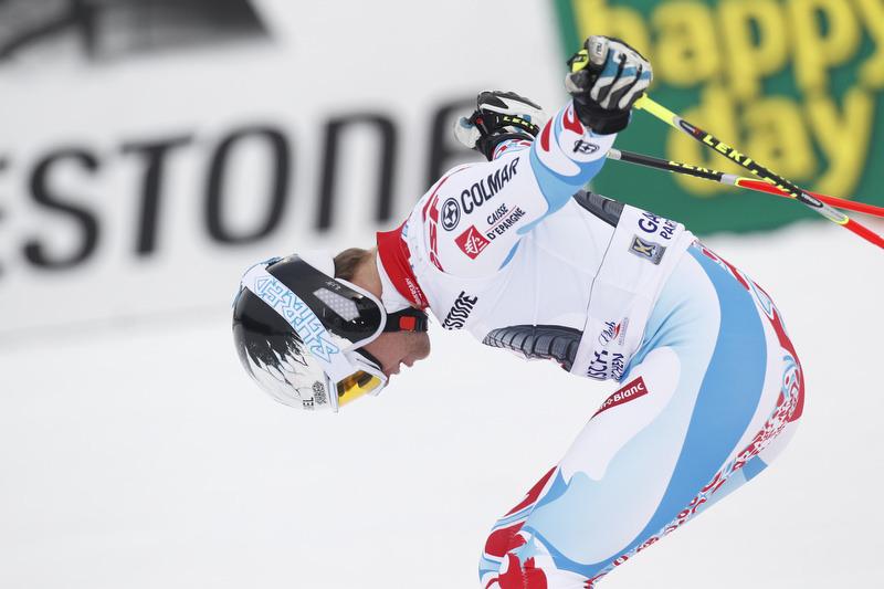 Alexis Pinturault verneigt sich vor dem Garmischer Publikum - er gewinnt das Rennen - © Alexis Boichard/AGENCE ZOOM