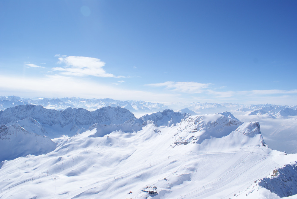 Das Panorama auf der Zugspitze ist einfach gewaltig - © Gernot Schweigkofler