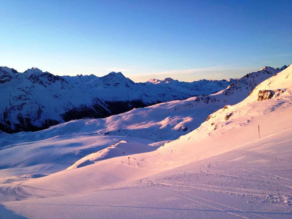 Corviglia am Morgen - © Engadin St. Moritz