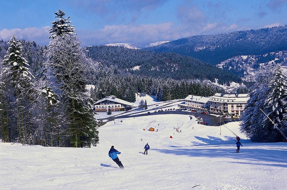 Ski sur les pistes de Ventron / Ermitage Frère Joseph