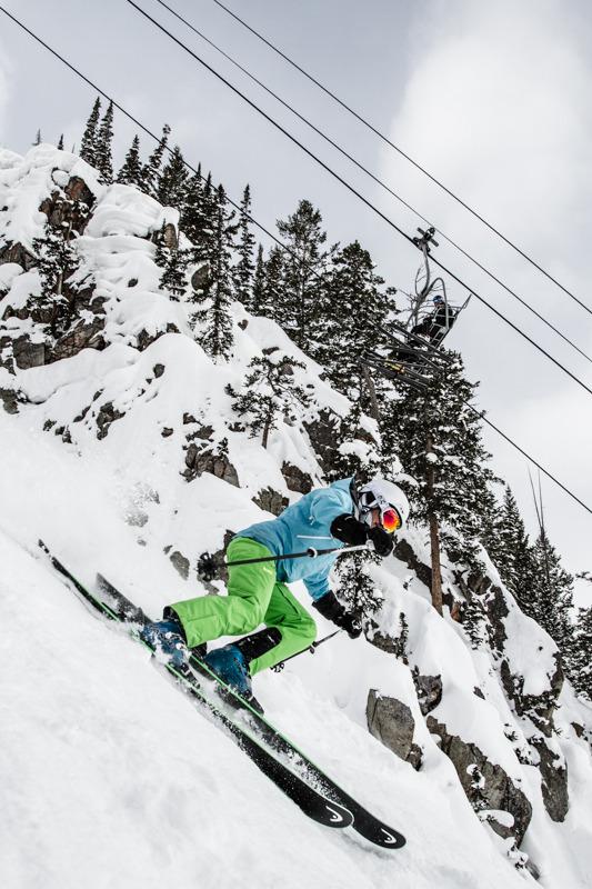 The terrain around the Gadzoom lift was perfect for testing all-mountain skis. - © Liam Doran