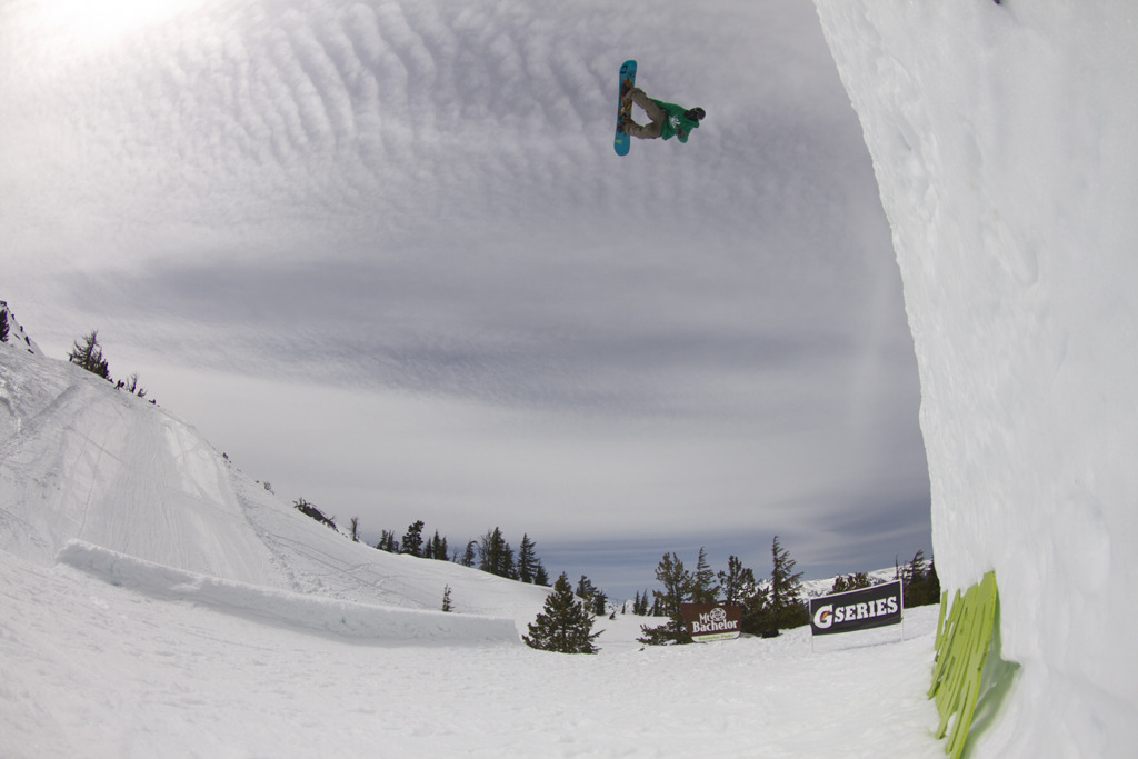 Air in Mt. Bachelor terrain parks. Photo courtesy of Mt. Bachelor Resort.