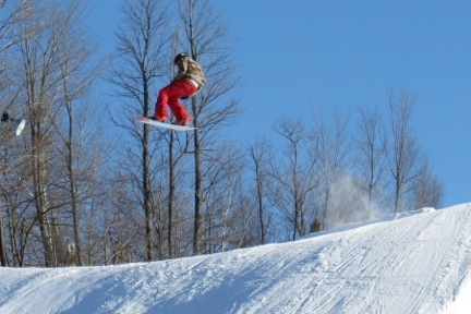 Catching air at Blackjack. - © Blackjack Ski Resort