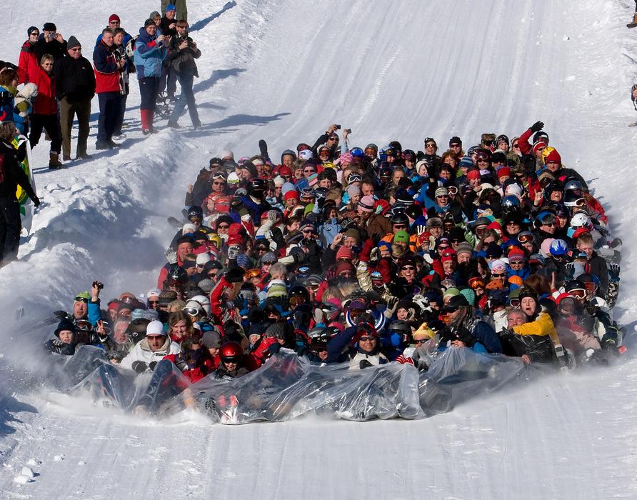 Ake-verdensrekordforsøk i Sjusjøen Skisenter - © Vidar Bryhn, Sjusjøen Skisenter