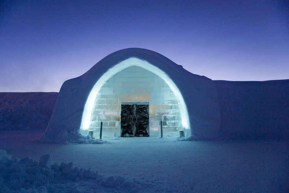 Ice Hotel entrance - © Ben Nilsson of Big Ben Productions/Ice Hotel