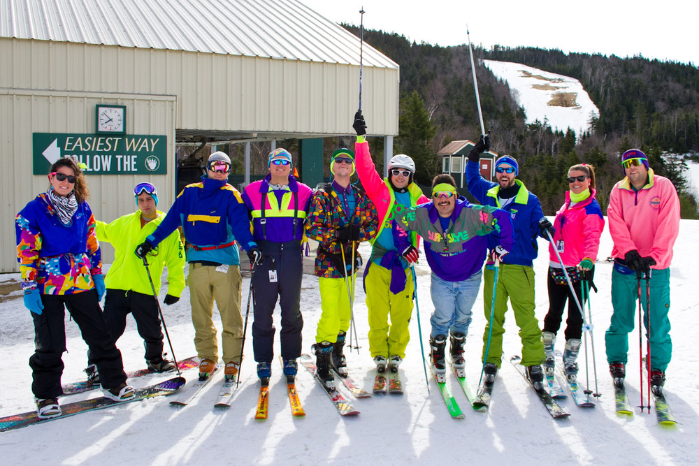 80s day at Loon Mountain brings out some interesting outfits. - © Courtesy of Loon Mountain