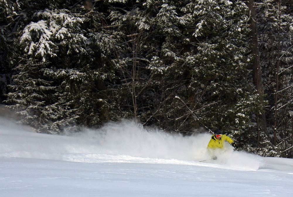 Everybody loves a rooster tail, especially at Attitash. - © Attitash