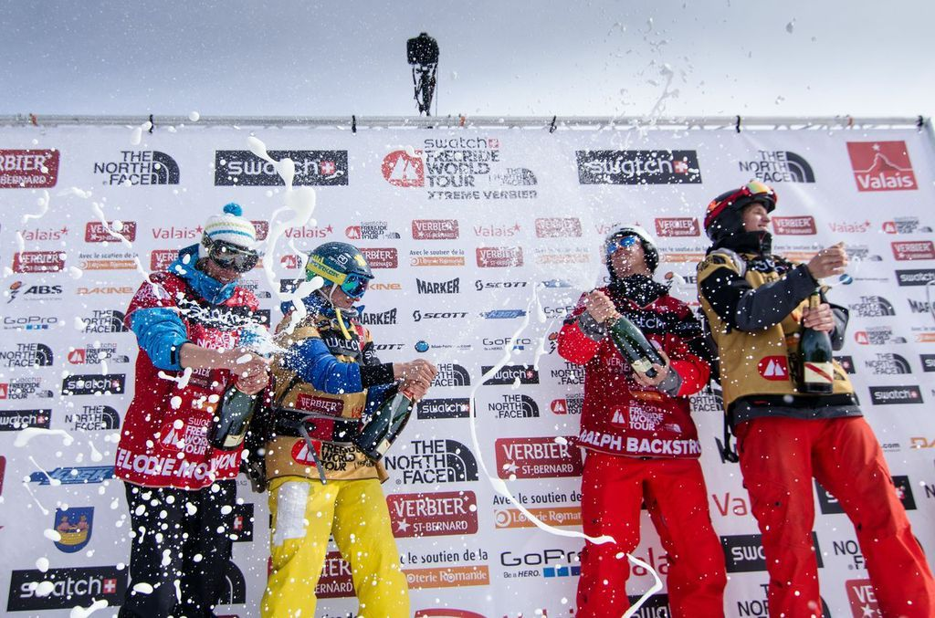 Momentky z finále Freeride World Tour ve Verbier - © freerideworldtour.com / PField