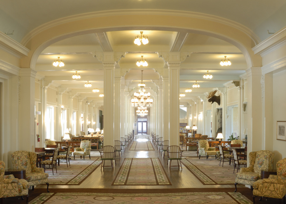 Grand Hall (the main lobby). Photo Courtesy of the Omni Mount Washington Resort.