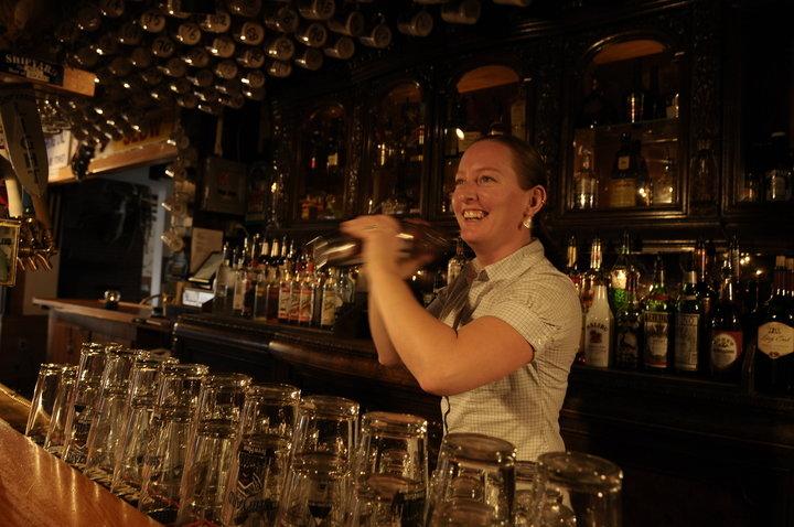 Mixing up drinks at the Shipyard Brewhaus. - © Sugarloaf