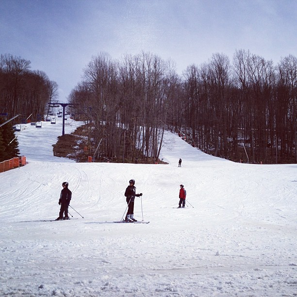 Shawnee Mountain's got plenty of sun and snow to offer late-season skiers. Photo Courtesy of Shawnee Mountain.