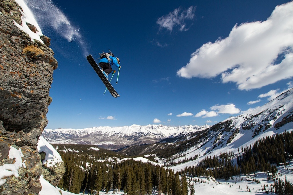 Greg Hope airs it out over Telluride. - © Liam Doran