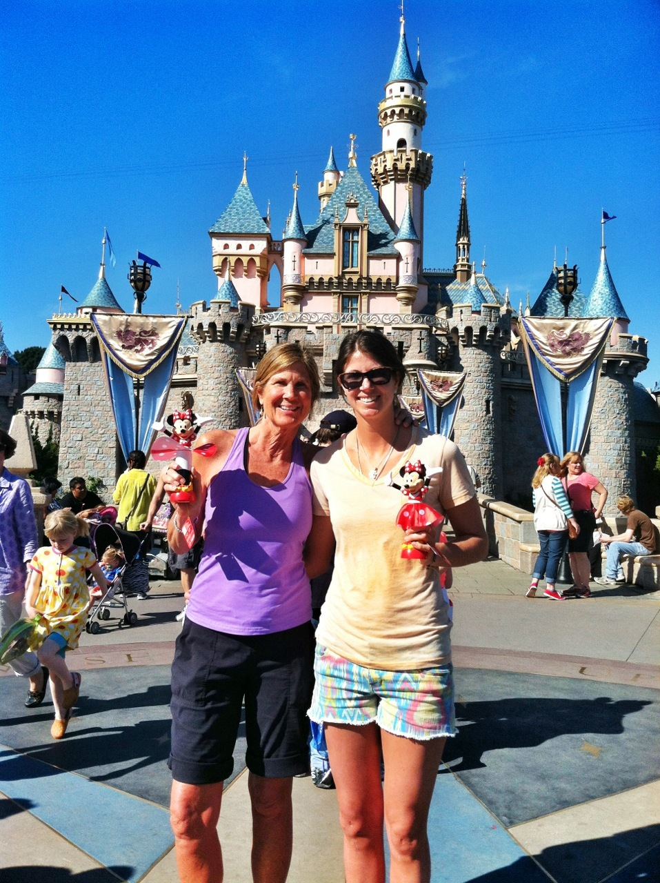 My mom and I at Disneyland. - © Meg Olenick