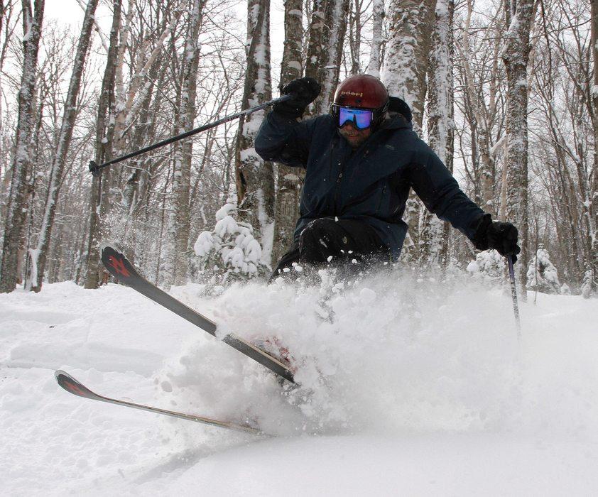 Burke's had its share of deep days this season. Photo Courtesy of Burke Mountain Resort.