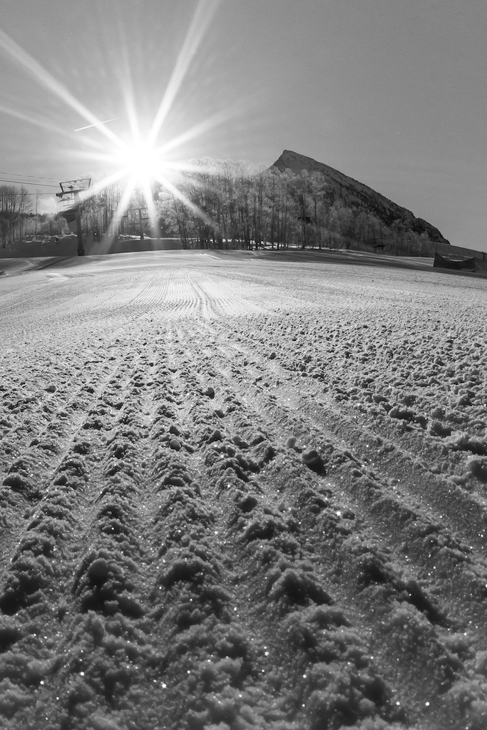 Crisp corduroy at Crested Butte. - © Jeff Cricco