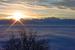 Ambiance et couleur d'une fin de journée d'hiver à Monts Jura - © Alain Girod