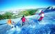Summer skiers on the Tux glacier, Austria.
