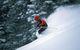 A skier finds powder in Snow Summit, California