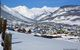 A view of the town in and mountains in Crested Butte, Colorado