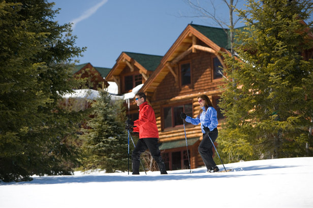 Miles of cross-country skiing trails surround Whiteface Lodge  - © Whiteface Lodge
