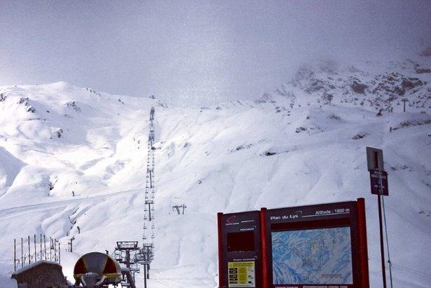 Sneeuw in het Franse Cauterets op 20 november 2013