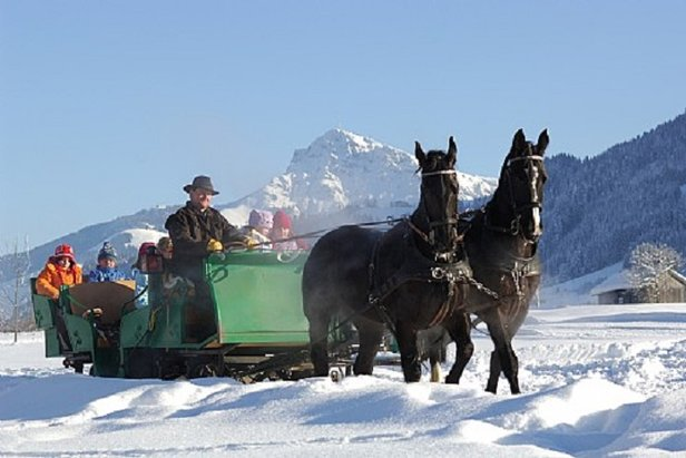 Sleigh ride beneath the Wilder Kaiser, Ellmau  - © Ellmau