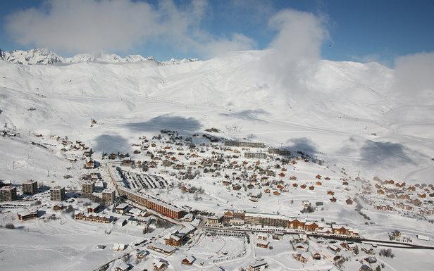 Vue aérienne sur la station de ski de la Toussuire