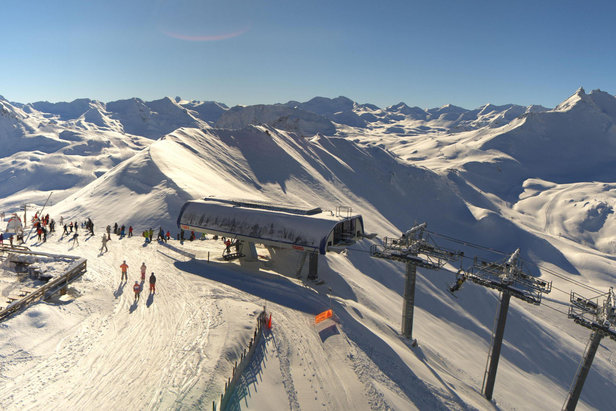 Skiing above the treeline in Tignes, France  - © Katallys / Livecam 360