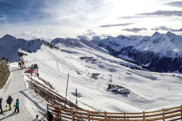 Am Jakobshorn in Davos am 13.12.