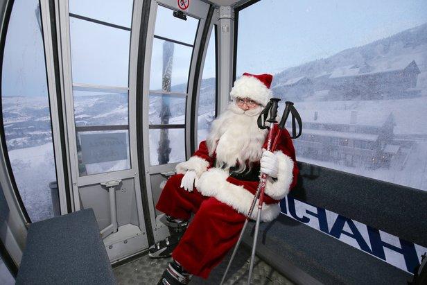 Tilogmed Julenissen tar juleferien på Hafjell