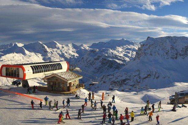 Sur les pistes de Val d'Isère ce vendredi 19 décembre 2014