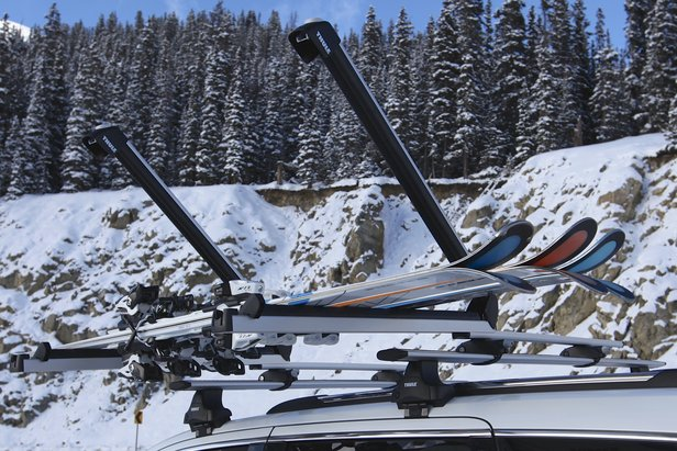 Large buttons allow easier opening of the ski rack, even when wearing gloves.  - © Nick Jones